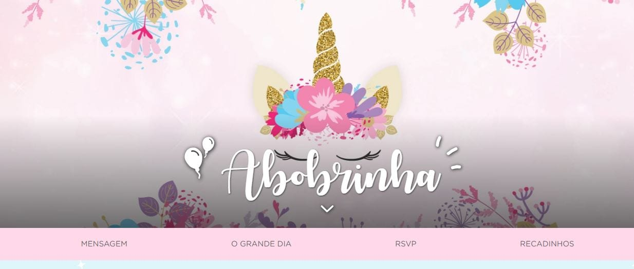 convite aniversário unicórnio site