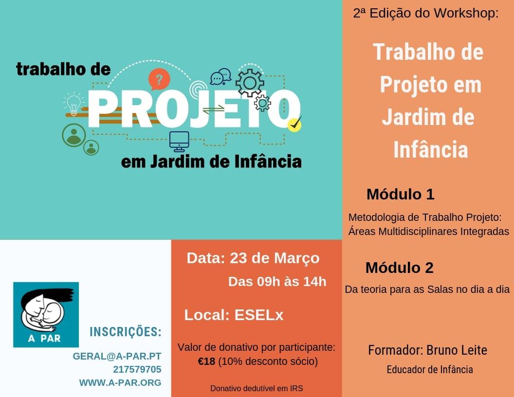 """Workshop """"Trabalho de Projeto em Jardim de Infância"""""""
