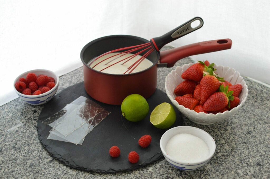 panna cotta - ingredientes