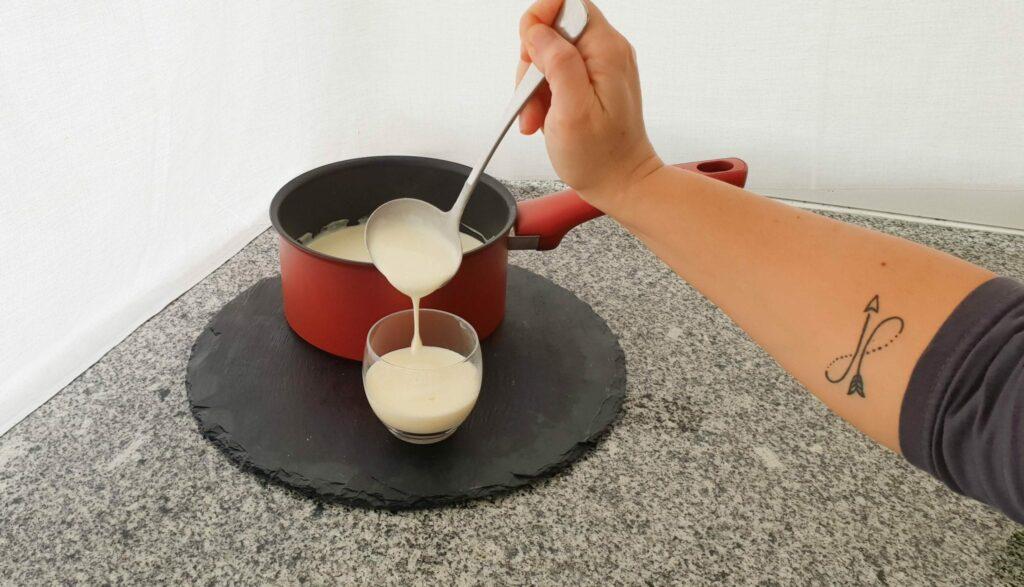 panna cotta - preparação natas