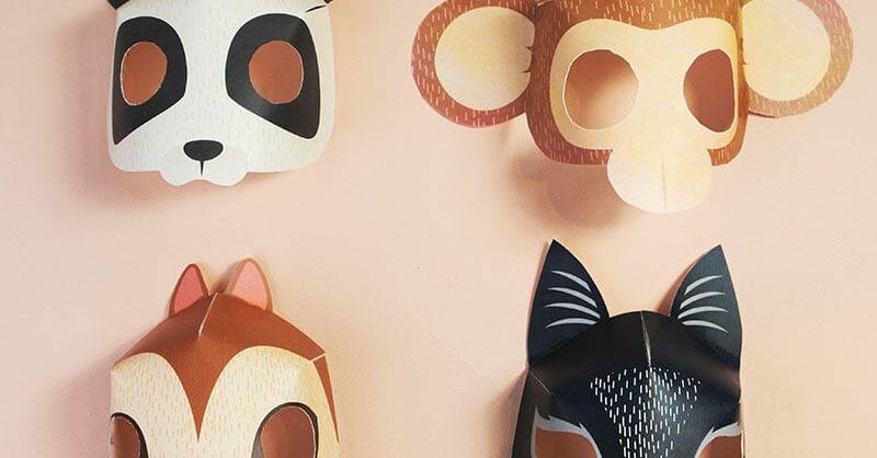 DIY: Máscaras de animais para imprimir para o Carnaval!