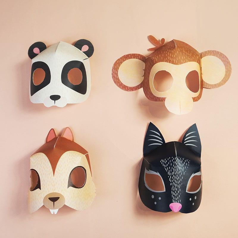 Diy Máscaras De Animais Para Imprimir Para O Carnaval Pumpkinpt