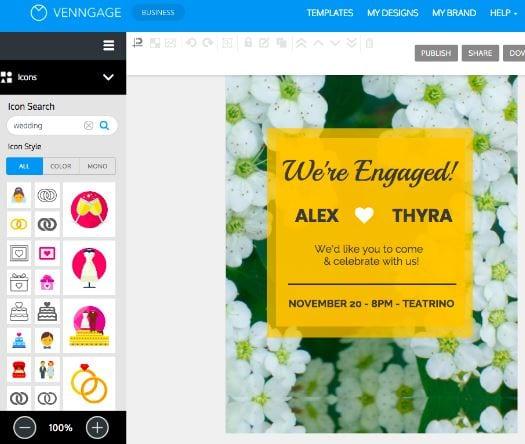 venngage convites online