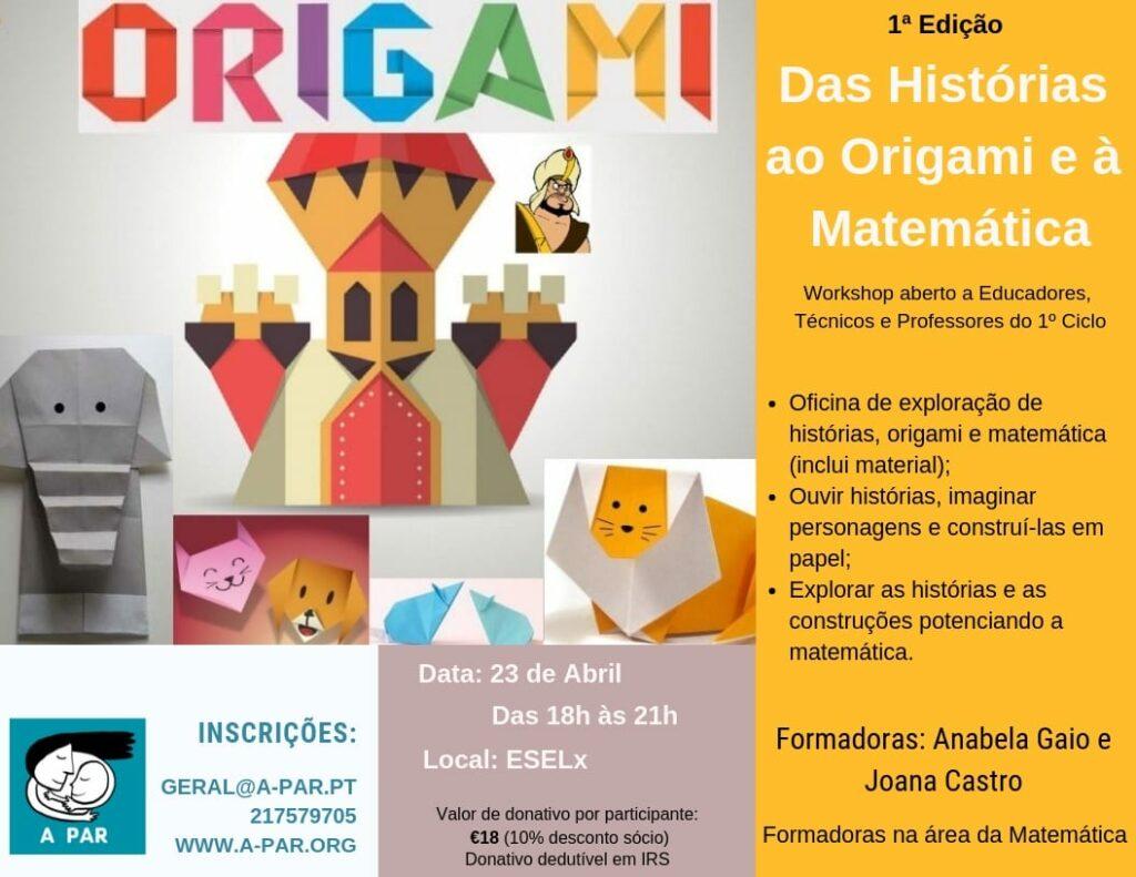 Das Histórias ao Origami e à Matemática