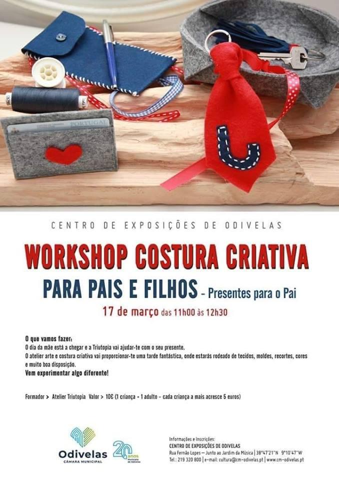 Workshop Costura Criativa para Pais e Filhos – Presente para o Pai