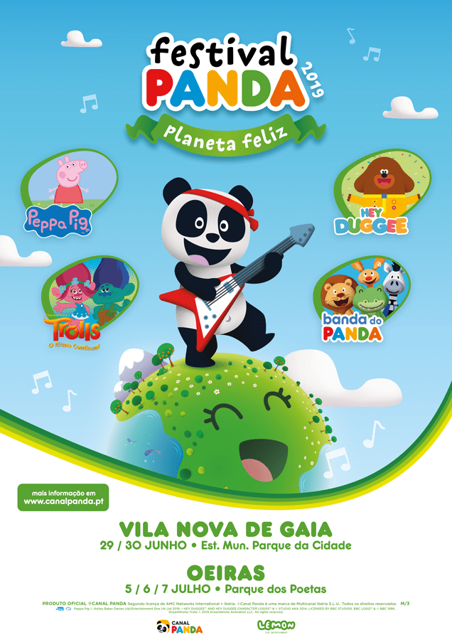 Personagens Festival Panda