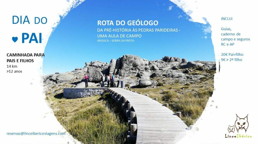 Dia do Pai – Rota do Geólogo – Caminhada e aula de campo
