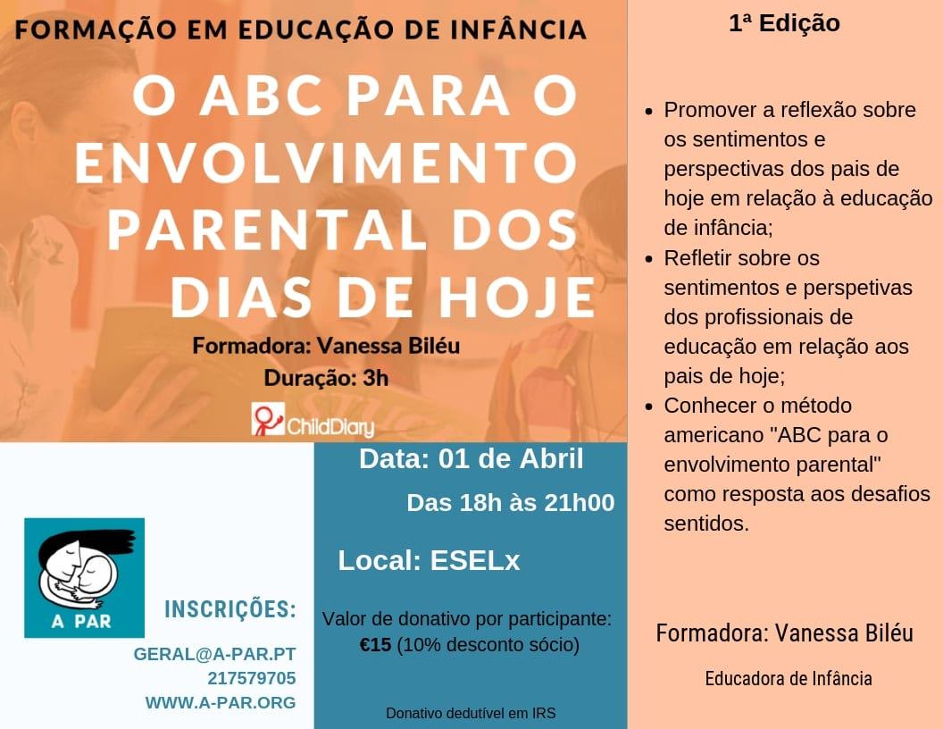 """O """"ABC"""" do Envolvimento Parental dos Dias de Hoje"""