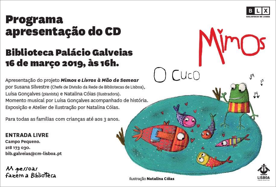Apresentação CD O Cuco – Mimos e livros à mão de semear