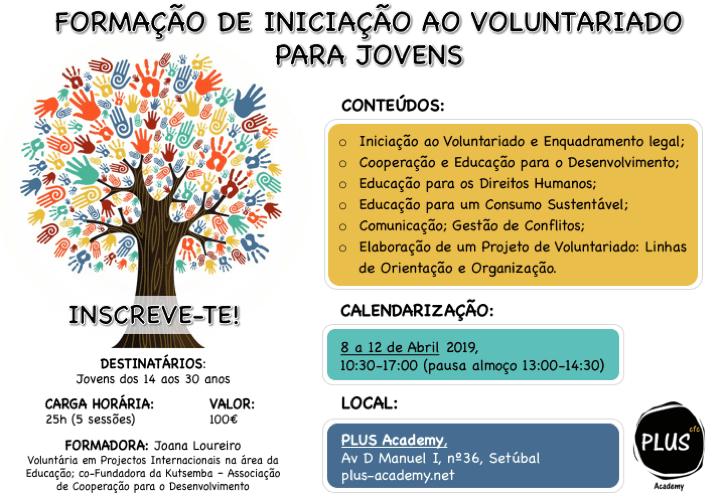 Formação de Iniciação ao Voluntariado para Jovens