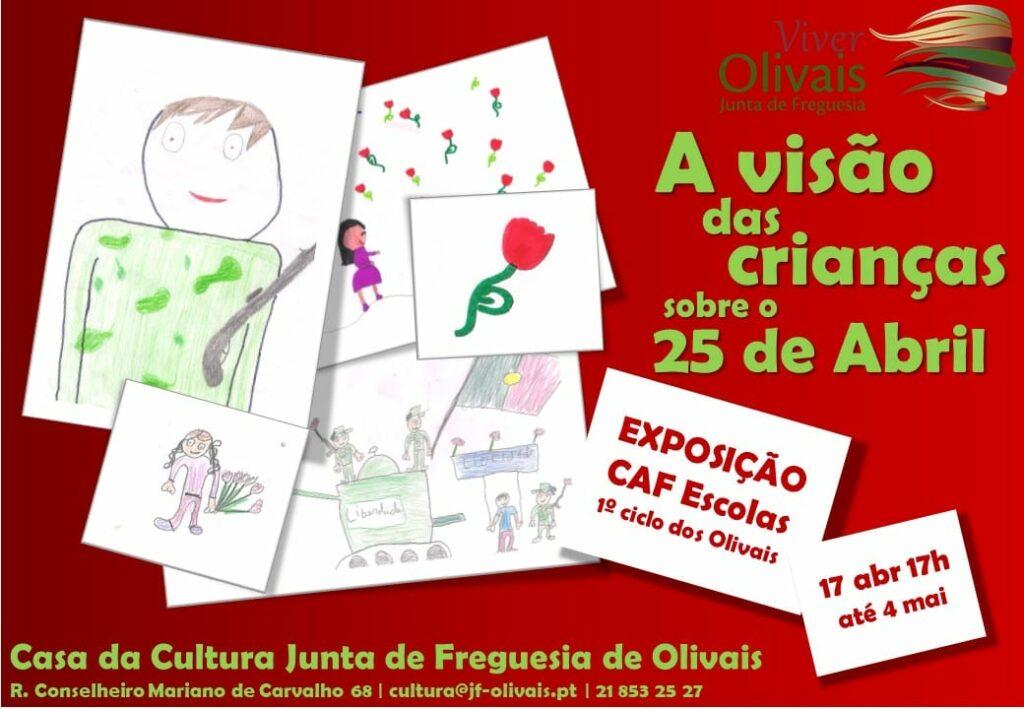 """Exposição """" A visão das crianças sobre o 25 de abril"""""""