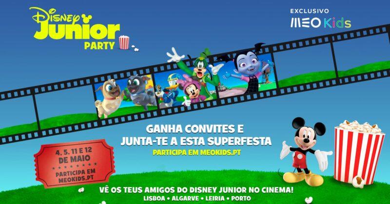 Disney Junior e Meo Kids levam uma super festa a várias cidades do país!