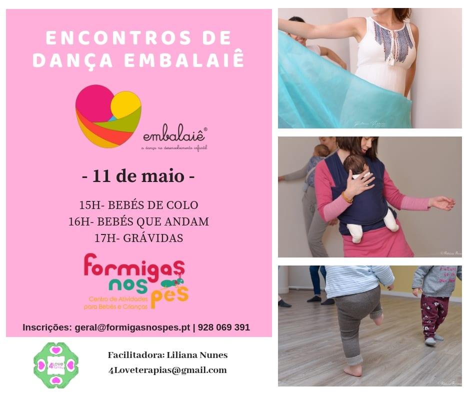 Encontros de Dança Embalaiê para Bebés e Grávidas