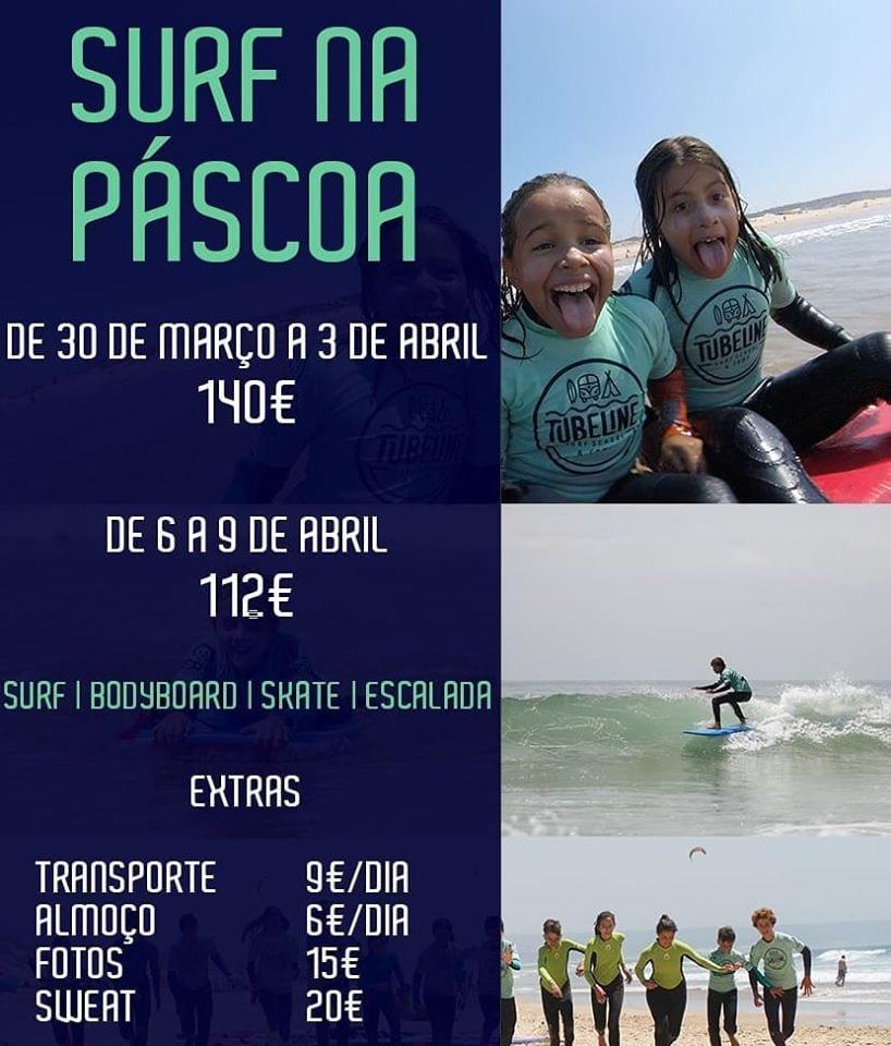 Férias da Páscoa na Tubeline Surf School