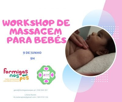 Workshop de Massagem para Bebés