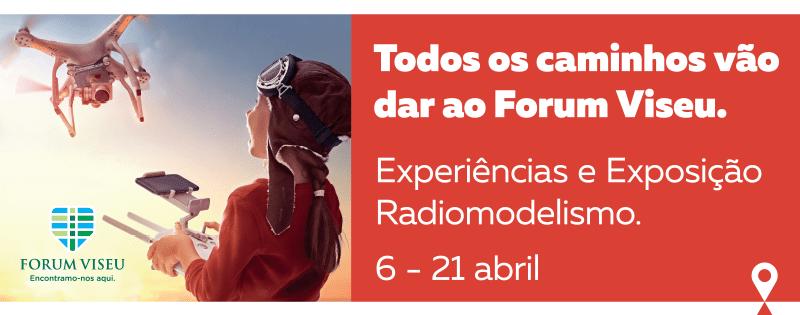 Experiência de Radiomodelismo pela 1ª vez no Forum Viseu