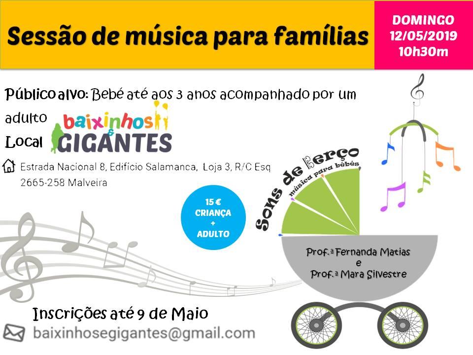 Sessão de Música para famílias