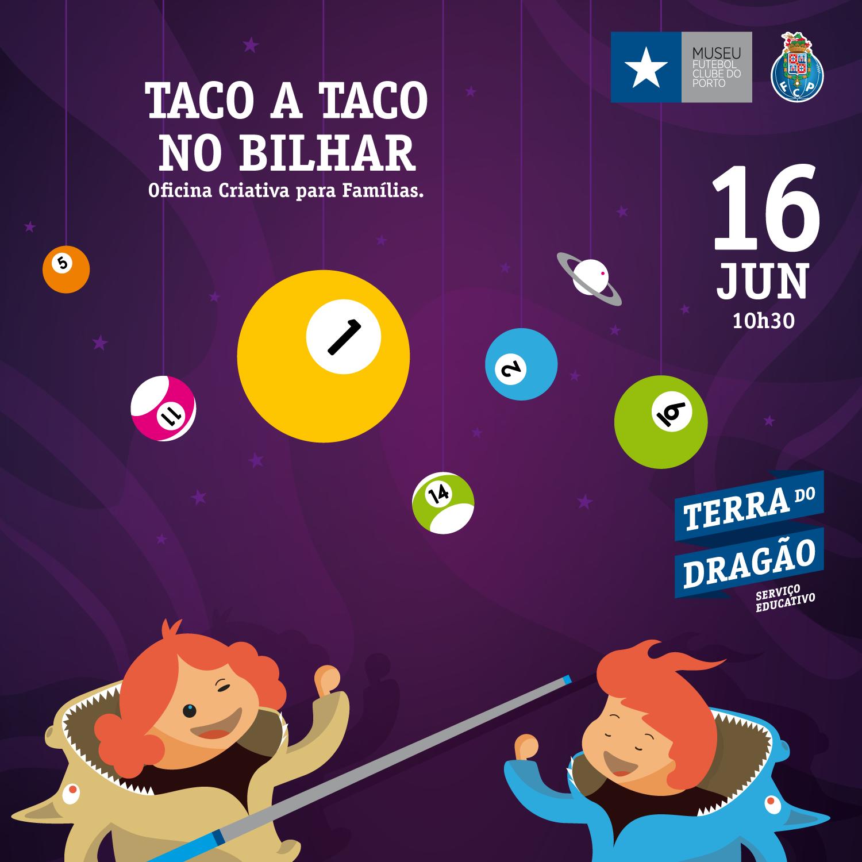 """""""Taco a Taco no Bilhar"""" – Oficina Criativa para Famílias"""