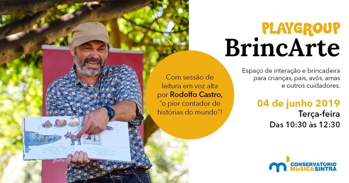 Playgroup BrincArte + leitura de histórias por Rodolfo Castro