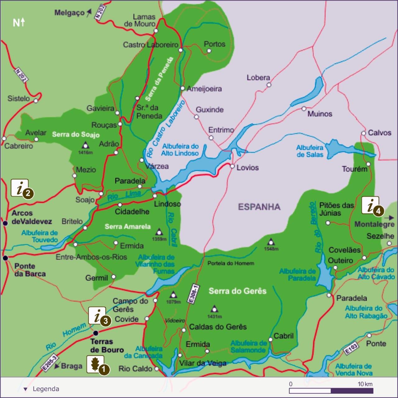 parque nacional peneda geres mapa