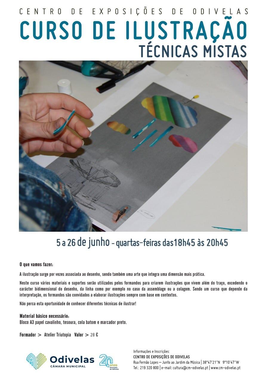Curso de Ilustração – Técnicas Mistas