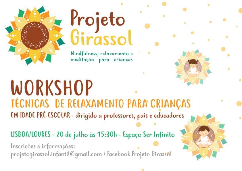 Workshop de Técnicas de Relaxamento para Crianças em Idade pré-escolar