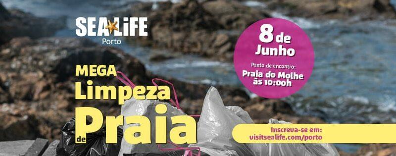 Juntem-se ao SEA LIFE Porto para uma mega limpeza de praia!
