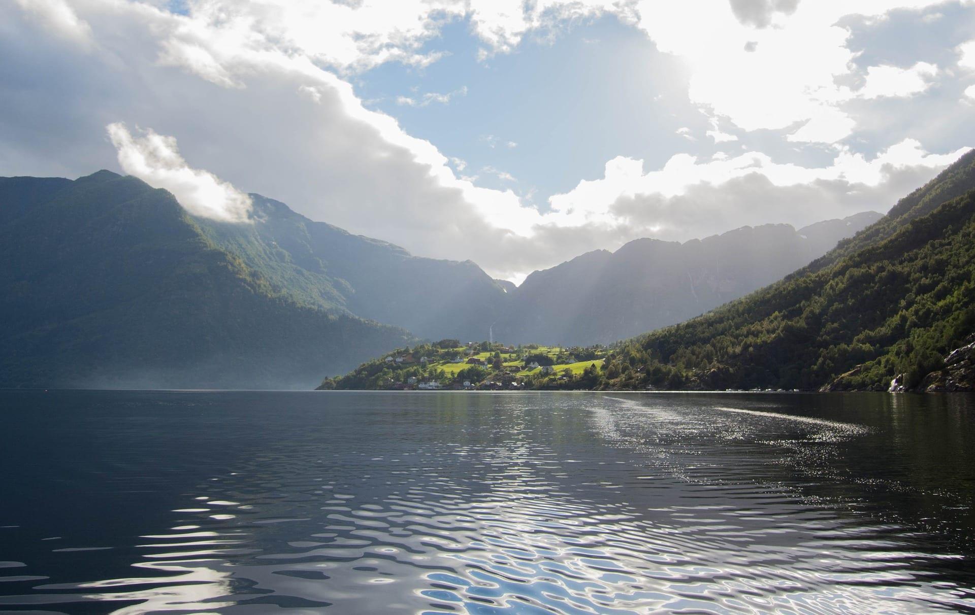 fjord no norte de Europa