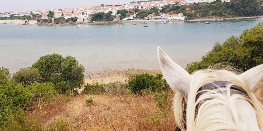 Passeio a cavalo na Herdade do Pessegueiro
