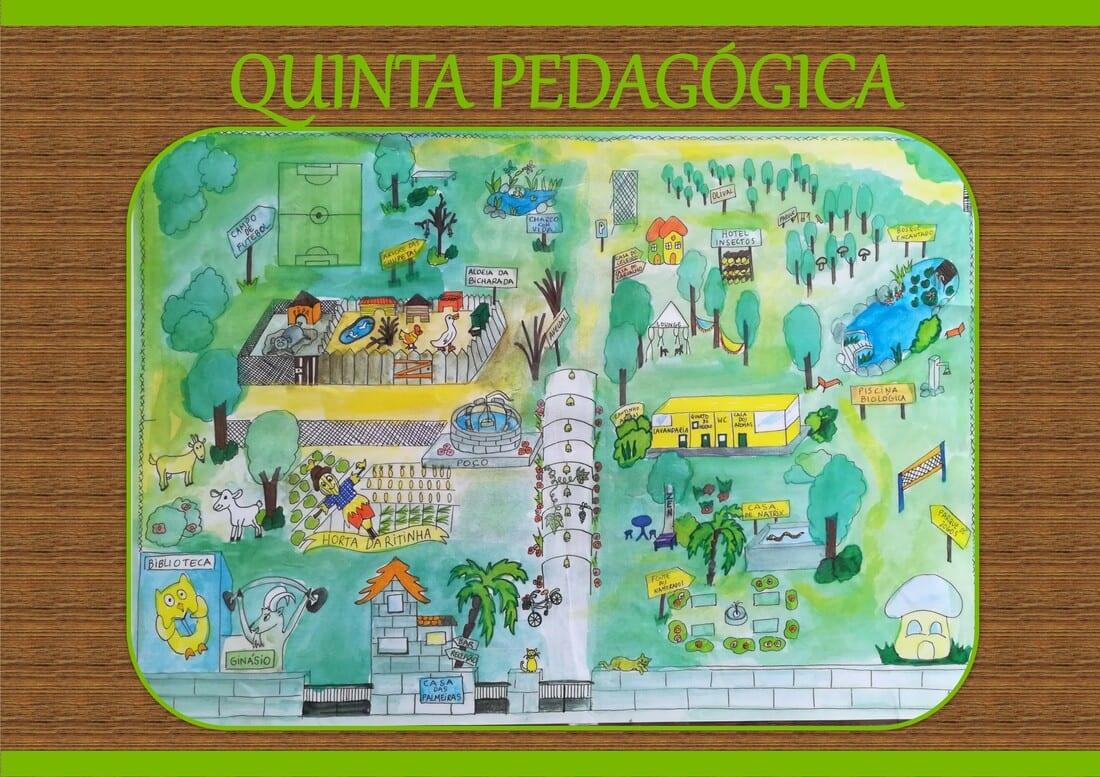 mapa quinta pedagógica casa das palmeiras