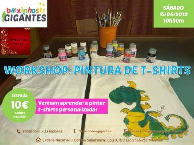 Workshop Pintura artesanal de T-shirts