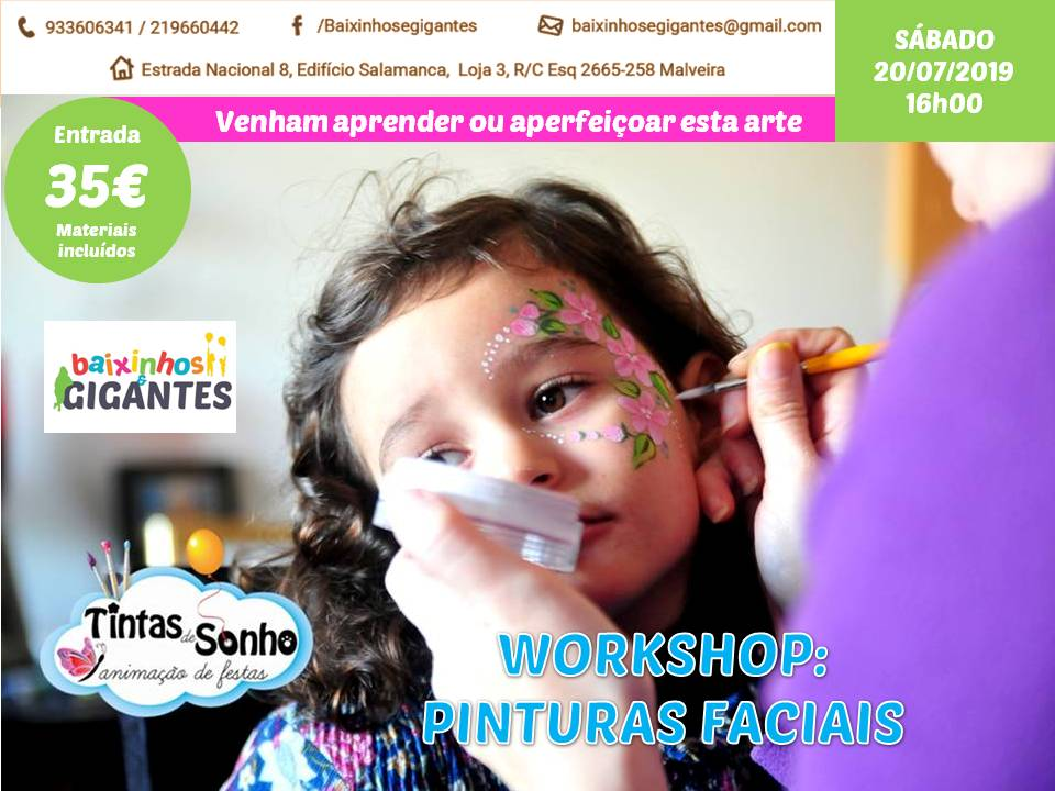 Workshop de Pinturas Faciais