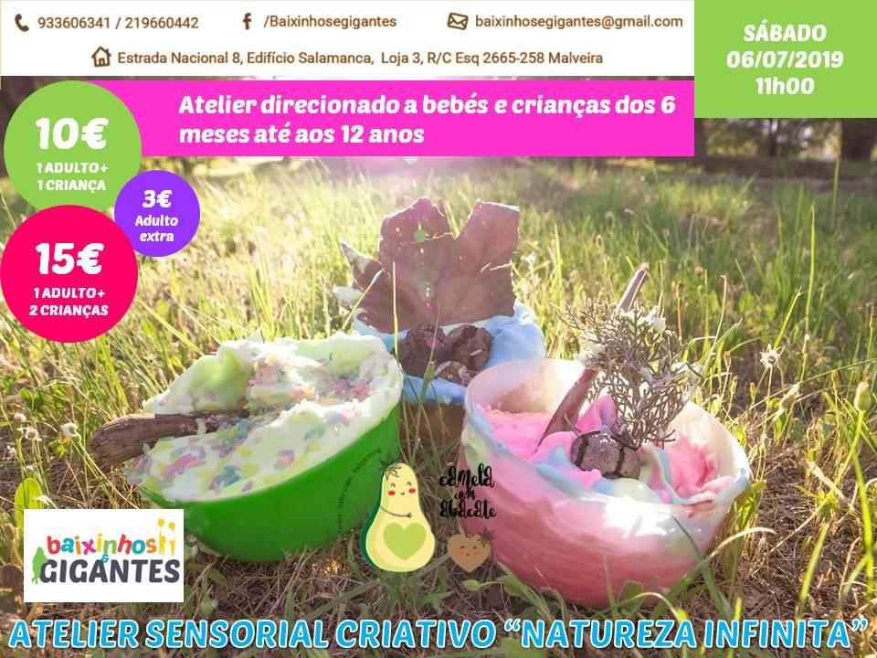 "Atelier Sensorial Criativo ""Natureza Infinita"""