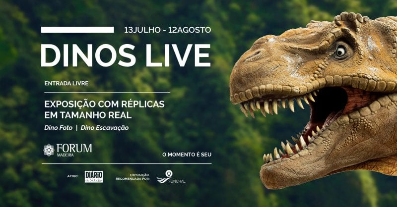 Dinossauros à escala real no Forum Madeira!
