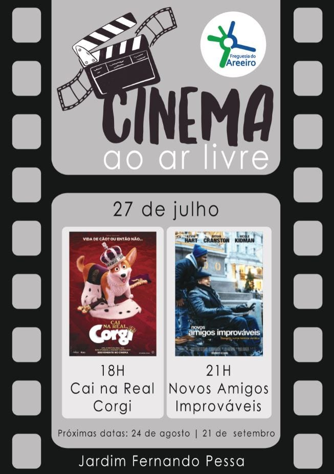 Cinema ao ar livre para pais e filhos