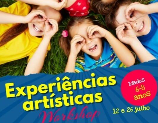 Workshop de Experiências artísticas para crianças dos 6 aos 8 anos