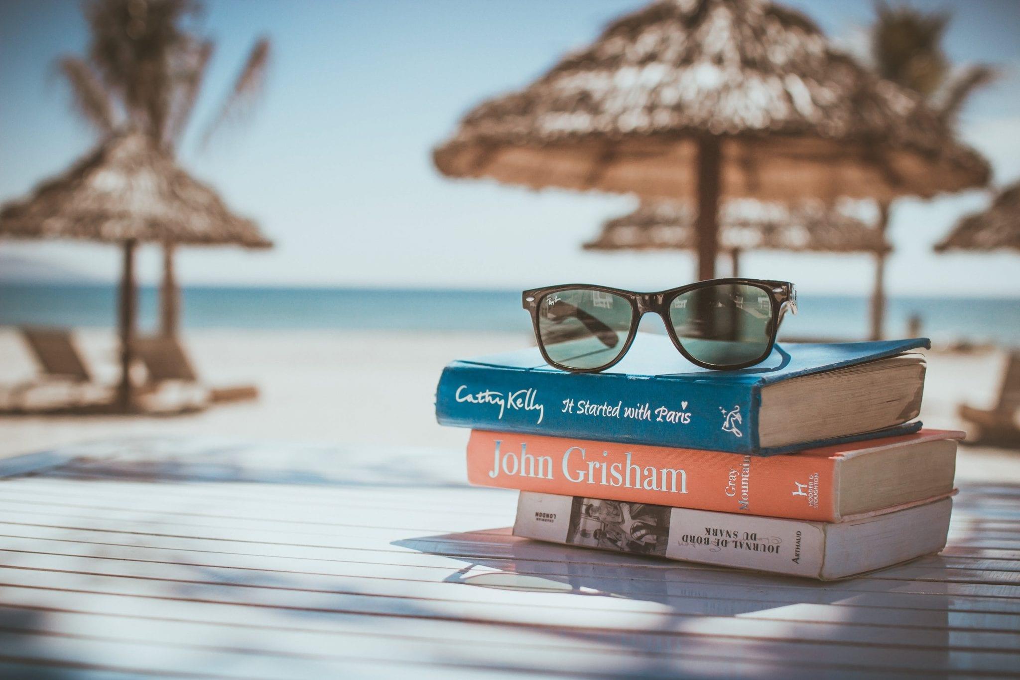 livros praia