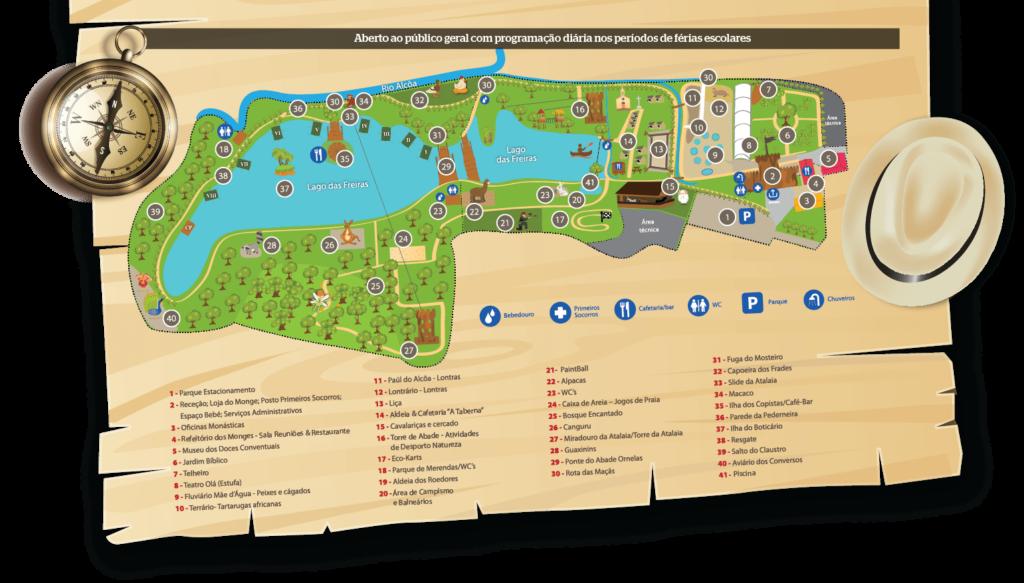 Parque dos Monges Mapa