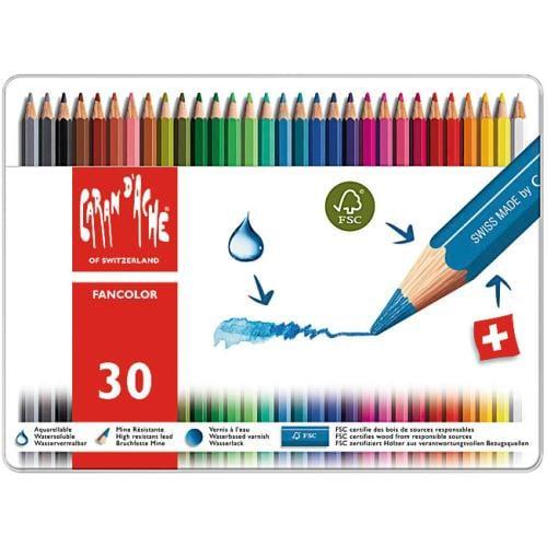 Caixa de Lápis de Cor Caran D' Ache Fancolor