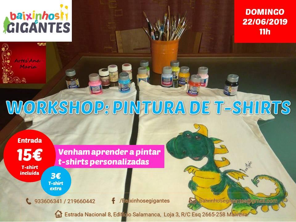Workshop: Pintura Artesanal de T-shirts