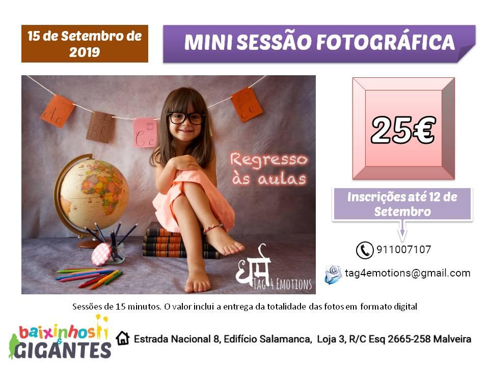 Mini Sessão Fotográfica: Regresso às Aulas