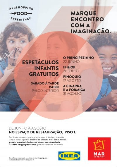 MAR Shopping Food Court Cartaz Infantil