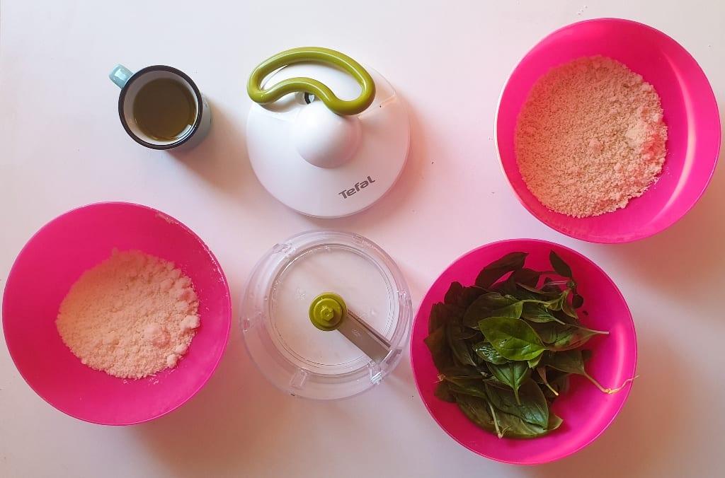 ingredientes receita pesto