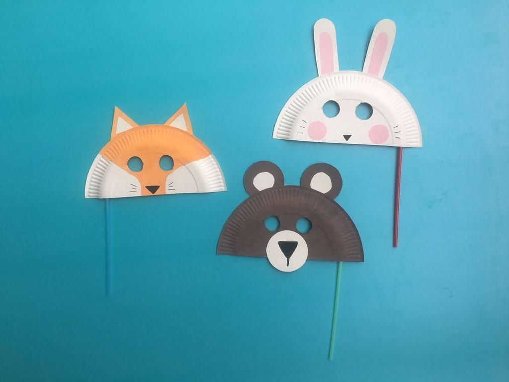 DIY: Máscaras de animais com pratos de papel