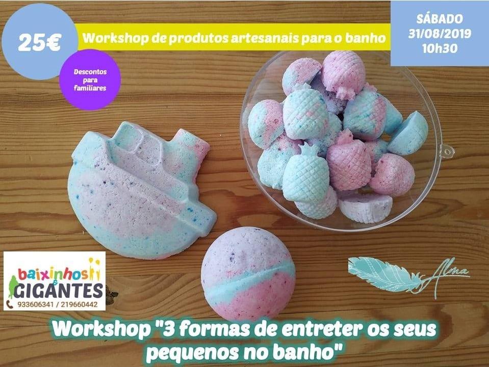 """Workshop """"3 formas de entreter os seus pequenos no banho"""""""