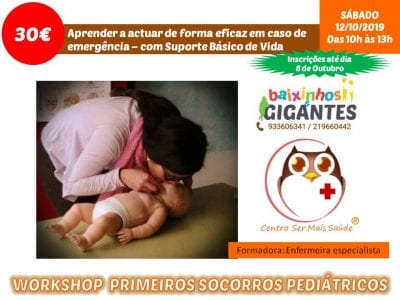 Workshop Primeiros Socorros Pediátricos