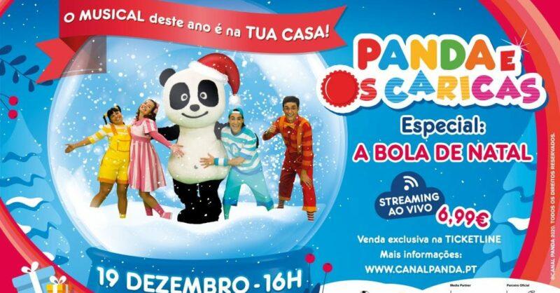 Panda Caricas Bola de Natal