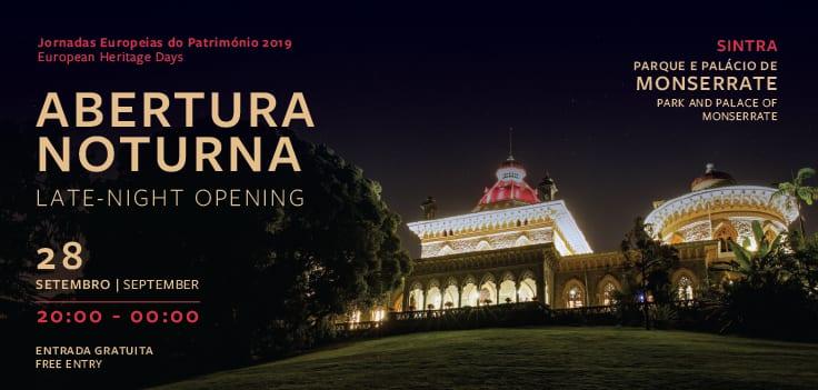 ABERTURA NOTURNA GRATUITA DO PARQUE E PALÁCIO DE MONSERRATE