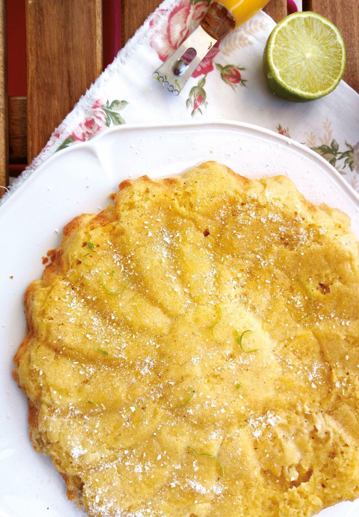 receita bolo de coco e lima