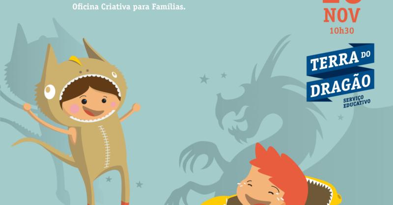 """""""Desvendando os Contornos do Dragão"""" – Oficina Criativa (p/Famílias)"""